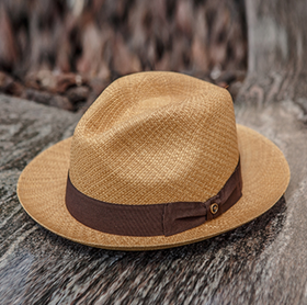 Austral Hats - Light Brown Panama Hat with Brown Bow Band