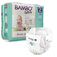 Bambo Nature, 2 Eco Disposable (30 nappies) 7 to 13 lbs, 3 to 6 kg *NEW*