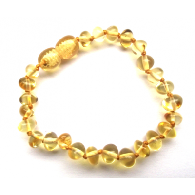 Polished Baroque Baltic Amber - Lemon