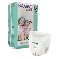 Bambo Nature Pants, 6 Eco Pull-ups/Training Pants (18 pants) 35+ lbs / 16+ kg