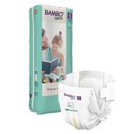 Bambo Nature, 6 Eco Disposable (40 nappies) 35-66 lbs, 16-30 kg *NEW*