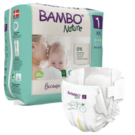 Bambo Nature, 1 Eco Disposable (22 nappies) 2 to 4 kg, 4 to 9 lbs *NEW*