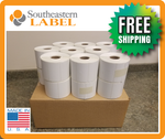 "2.25"" x 1.25"" Direct Thermal Labels - 18 Rolls (1,000/roll)"
