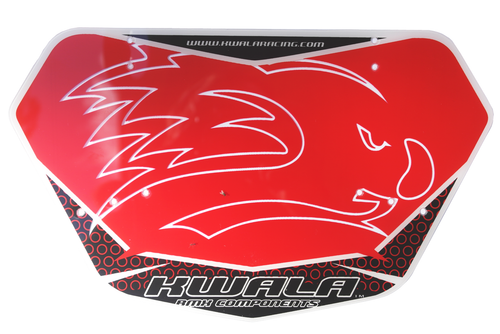 KWALA Evolution bmx race number plate,RED