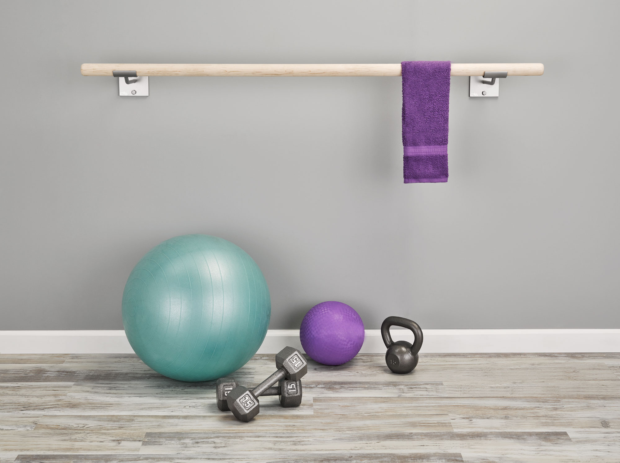 single wall mounted ballet barre - ballet barre for home