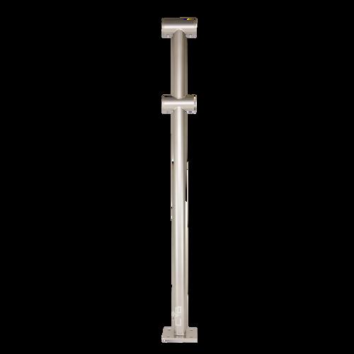 Custom Barres CLASSIX-DUO - Double Floor Mounted Ballet Barre Bracket - Silver Powder Coated Finish