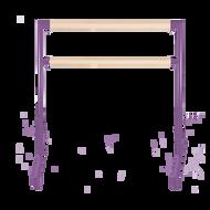 2nd Arabesque - Adjustable Ballet Barres - Adjustable Portable Ballet Barre - Purple Barre
