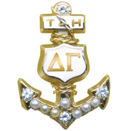 Crown Pearl Badge with 4 Diamonds