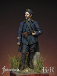FeR Miniatures: Faherenheit Miniature Project - Lieutenant, French Chasseurs Alpins, Diables Bleus, 1918