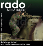 Rado Miniatures: Achtung Jabo! - Waffen SS Panzer Crewman w/MG34, 1944