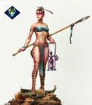 Aradia Miniatures - AELANIA, Dragons Charmer