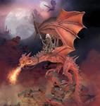 Andrea Miniatures: Warlord Saga - Beelphegor, Fire Wings