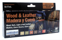 Vallejo - Wood & Leather Model Color Paint Set