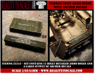 Reality in Scale German 88mm ammo boxes