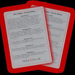 "P&T TSA ""Bill of Rights"" Card"
