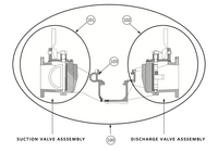 827440-003 Armstrong DualArm Suction Valve Assembly