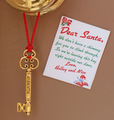 Elegant Santa key with personalized note to Santa