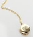 Personalized Grandma Locket - Round Gold-Tone