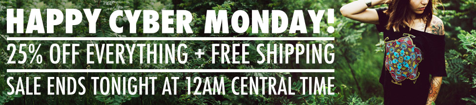 Cyber Monday Sale - 25% off and Free Shipping