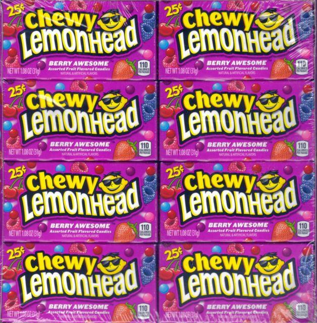 Berry Awesome Chewy Lemon Head & Friends Lemonhead Candy 1 box 24 units