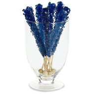 Rock Candy on Sticks Wrapped Dark Blue 48 units