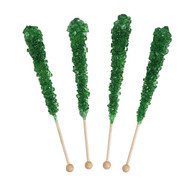 Rock Candy on Sticks Wrapped Green 12 units