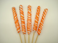 "9"" Twist Lollipops Orange & White 12 units"