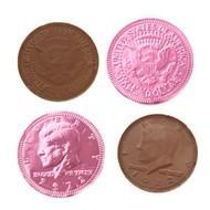 Chocolate Coins Pink 1 Pound