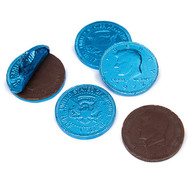 Chocolate Coins Caribbean Blue 1 Pound