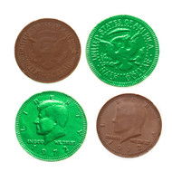 Chocolate Coins Green 1 Pound