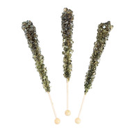 Rock Candy on Sticks Wrapped Black 12 pieces