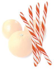 Circus Candy Sticks Orange/White 10 pieces