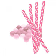 Circus Candy Sticks Pink/White 10 pieces
