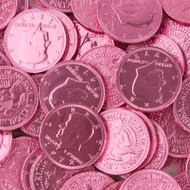 Chocolate Coins Pink Case (12 Pounds)
