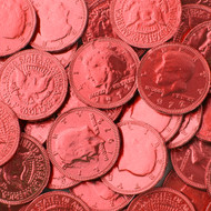 Chocolate Coins Red Case (12 Pounds)