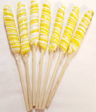 9 inch Twist Whirly Lollipops 72 units 1oz Yellow & White