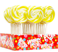 """3"""" Whirly Lollipops Yellow 60 units 1 Case 1.5oz"""