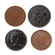 Chocolate Coins Black 1 Pound