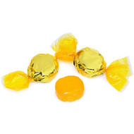 Wrapped Hard Candy Yellow Lemon Flavor 2.5 Lbs