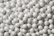 Sixlets Candy Coated Chocolate Shimmer White Case (12 Pounds)