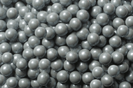 Sixlets Candy Coated Chocolate Shimmer Silver Case (12 Pounds)