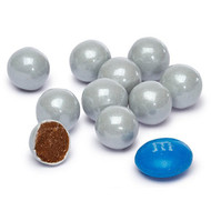 Sixlets Candy Coated Chocolate Shimmer Silver 2 Pounds