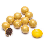 Sixlets Candy Coated Chocolate Shimmer Gold 2 Pounds