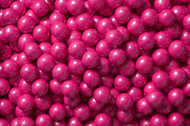 Sixlets Candy Coated Chocolate Shimmer Bright Pink Case (12 Pounds)