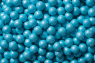 Sixlets Candy Coated Chocolate Shimmer Powder Blue Case (12 Pounds)