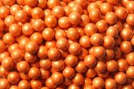 Sixlets Candy Coated Chocolate Shimmer Orange 2 Pounds