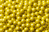 Sixlets Candy Coated Chocolate Shimmer Yellow Case (12 Pounds)