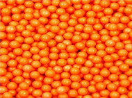 Pearl Beads Shimmer Orange 2 Pounds