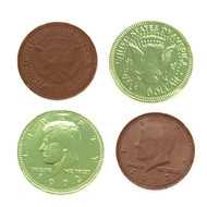 Chocolate Coins Kiwi Green 1 Pound