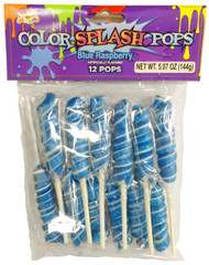 Twisted Whirly Lollipops Blue 12 Count Blue Raspberry Flavor